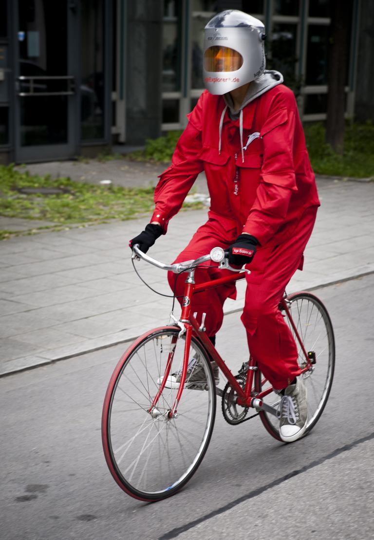 Alterssimulationsanzug Fahrrad