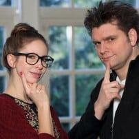 Lutz von der Horst und Christiane Stenger-Alterssimulationsanzug-Age-Explorer
