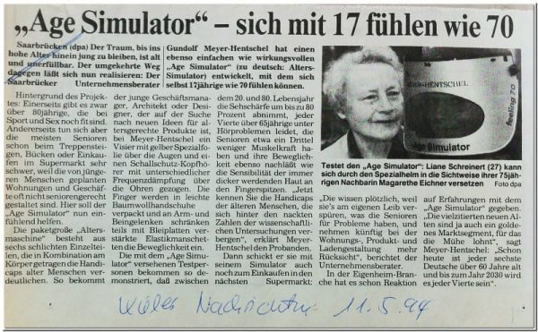 Alterssimulationsanzug AgeSimulator