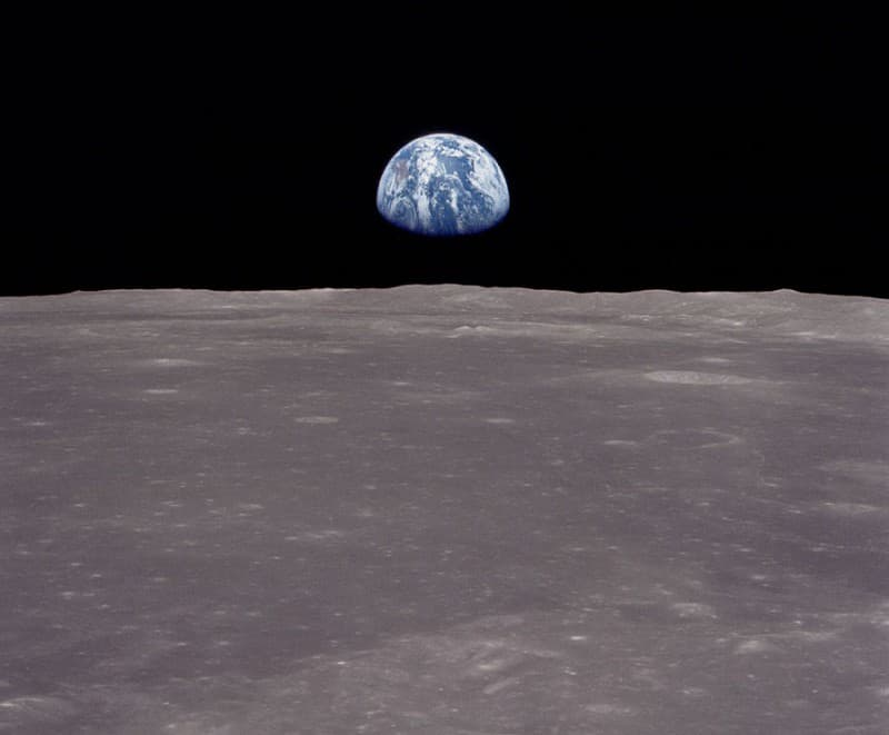 So haben die Astronauten von Apollo 11 die Erde vom Mond aus gesehen.