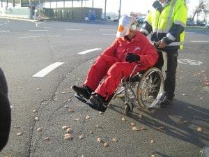 Alterssimulationsanzug AgeExplorer / Mobilität im Alter