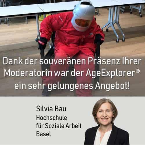 Beim Tag der Offenen Tür der Hochschule für Soziale Arbeit, Basel, war der AgeExplorer ein Highlight.