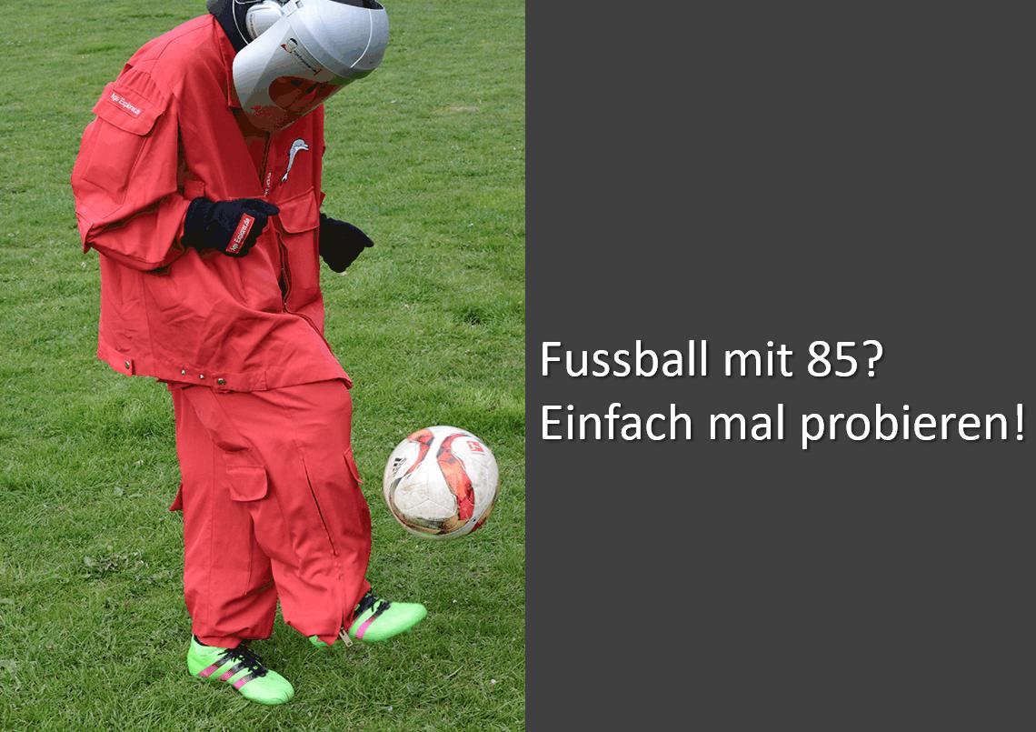 Fussball mit 85 - Tag der Offenen Tür