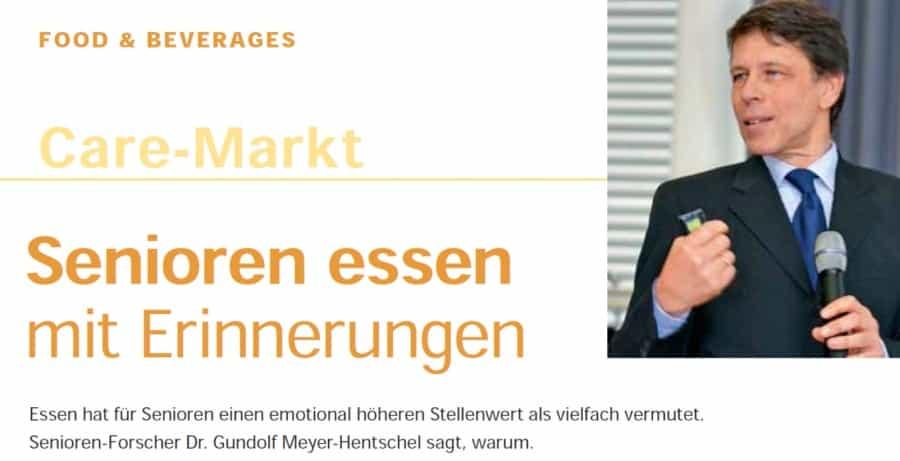 Seniorenexperte Gundolf Meyer-Hentschel beantwortet Fragen zur Seniorenverpflegung