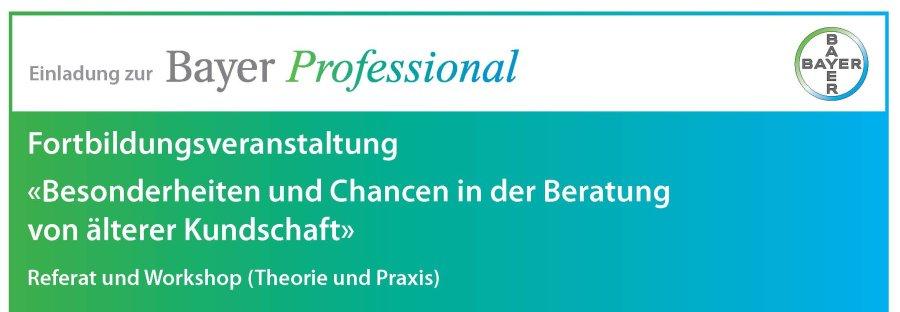 Bayer Professional ist eine Weiterbildungsplattform für Fachpersonen in Apotheken und Drogerien.